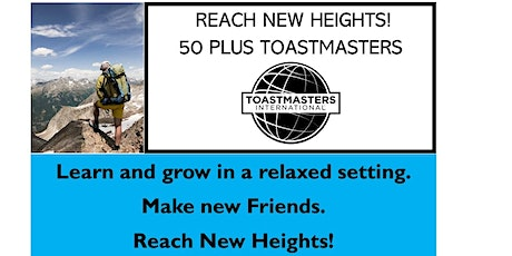 50 Plus Toastmasters Meeting tickets