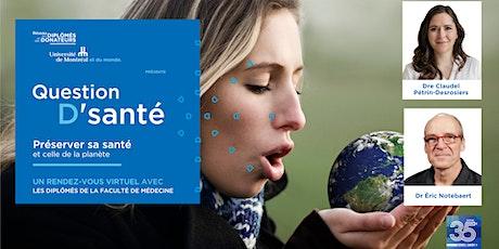 QUESTION  D'SANTÉ | Santé et planète billets