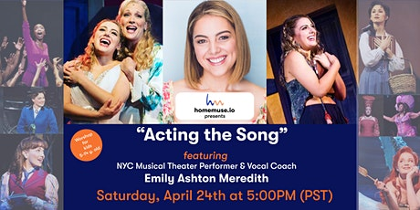 """""""Acting The Song"""": Broadway class for kids ages 6-14 tickets"""