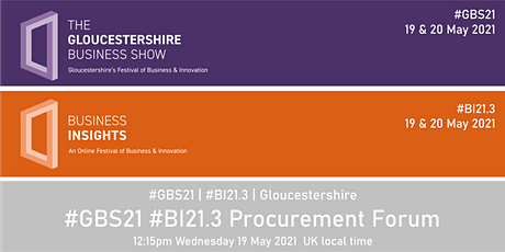 #GBS21 #BI21.3 Procurement Forum tickets