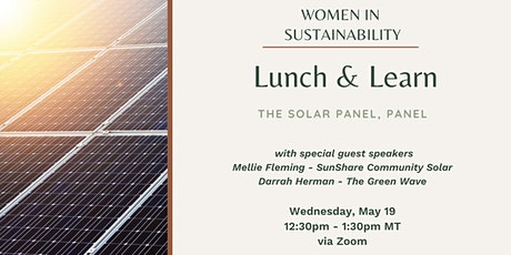 Women in Sustainability - The Solar Panel, Panel tickets