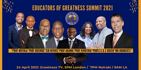 Educators of Greatness Summit 2021 tickets