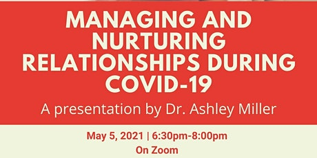 Managing and Nurturing Relationships During COVID-19 tickets