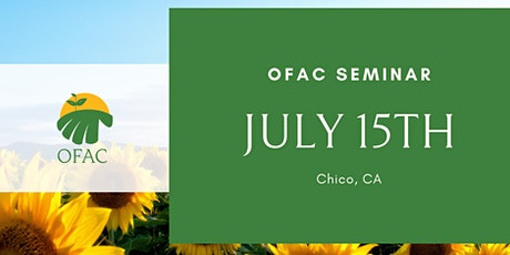 OFAC July Seminar tickets