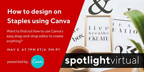 How to design on Staples using Canva tickets