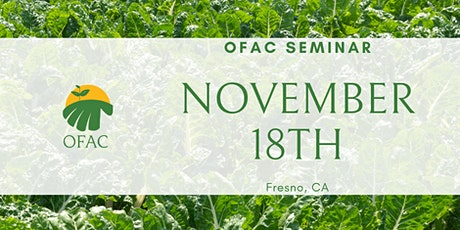OFAC November Seminar tickets