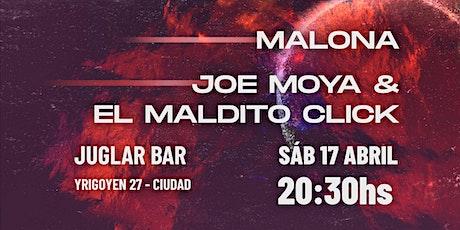 Malona + Joe Moya & el Maldito Click en Juglar Bar entradas