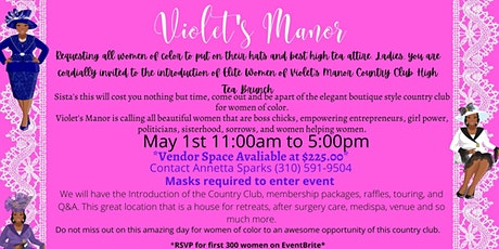 Introduction of Elite Women of Violet's Manor Country Club High Tea Brunch tickets