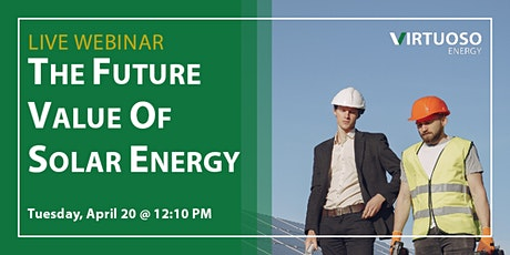 LIVE WEBINAR: The Future Value of Solar Energy biglietti