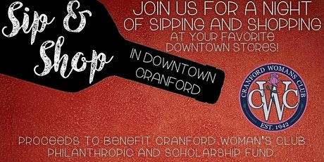 Spring Sip & Shop In Downtown Cranford - 2 Sessions tickets