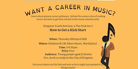 Music and events industry kick start info night tickets