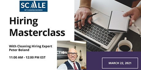 Cleaning Business Hiring Masterclass tickets