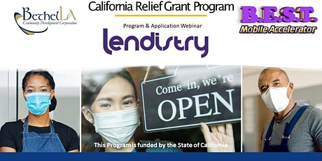 California Relief Fund Round 6 Grant Application Webinar 2021 tickets