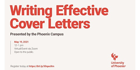 Webinar: Writing Effective Cover Letters tickets