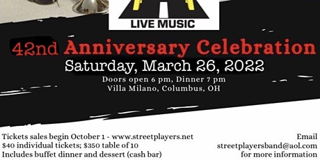 The Street Players 42nd Anniversary Celebration tickets