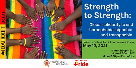 Global solidarity to end homophobia, biphobia, and transphobia tickets