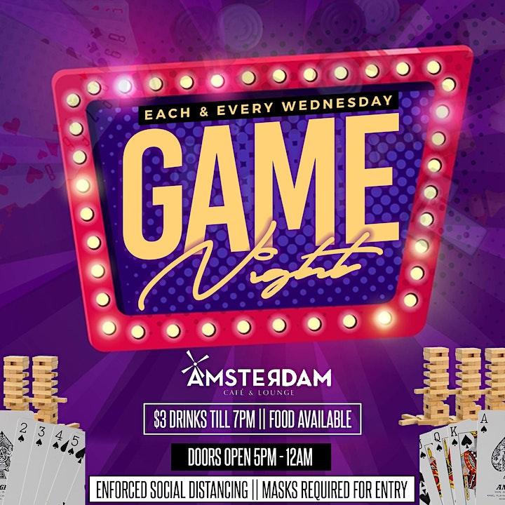 Game Night Wednesdays at Amsterdam Lounge image