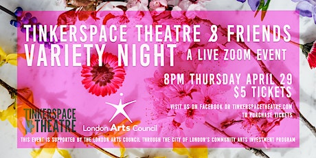 Tinkerspace Theatre and Friends Variety Night Tickets