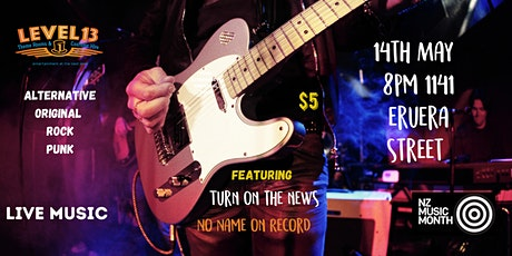 "Live music ""Turn on the News""  ""No Name on Record"" tickets"