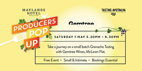 """TASTING AUSTRALIA """"PRODUCERS POP UP"""" by GEMTREE WINES tickets"""