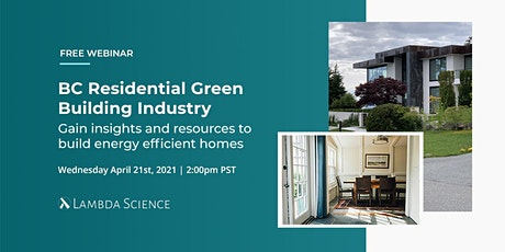 BC Residential Green Building Landscape tickets