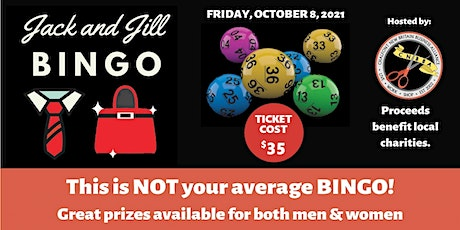 Jack and Jill Bingo October 8th, 2021 tickets