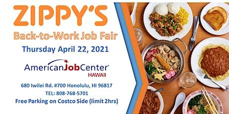 Zippy's Back to Work  Job Fair April 22, 2021 tickets