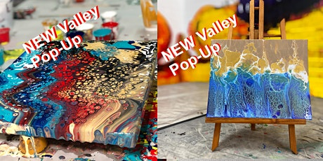 Valley Pop-up Paint Pouring Advanced Class  'Byron Bay'  21.5.21 tickets
