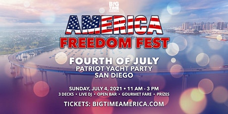 America Freedom Fest Fourth of July Patriot Yacht Party - San Diego tickets