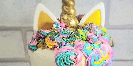 Tweens & Teens Cake Camp - Golden Unicorn Cake Decorating with Fondant tickets