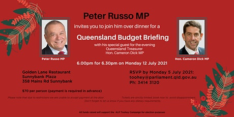 Queensland Budget Briefing with Hon. Cameron Dick, MP tickets