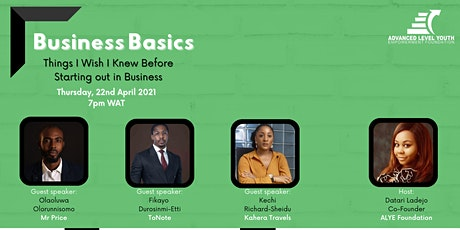 Business Basics; Things I Wish I Knew Before Starting out in Business tickets