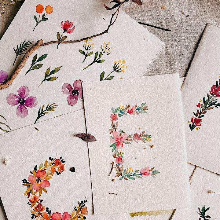 Floral Letters with Karin Brushmarkers Workshop image