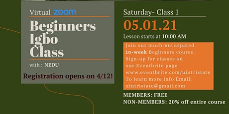 Igbo Classes - Beginner's session (1st class)- The ABC's of Igbo tickets