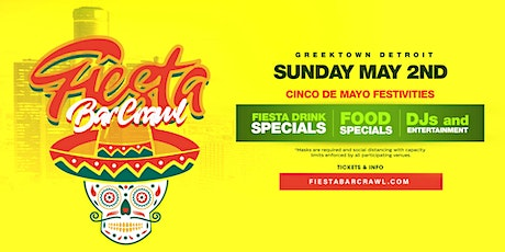 FIESTA BAR CRAWL 2021 - Greektown Detroit tickets