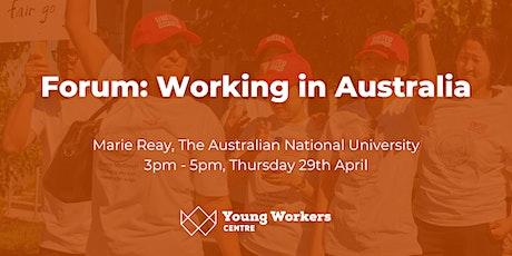 Forum: Working in Australia tickets