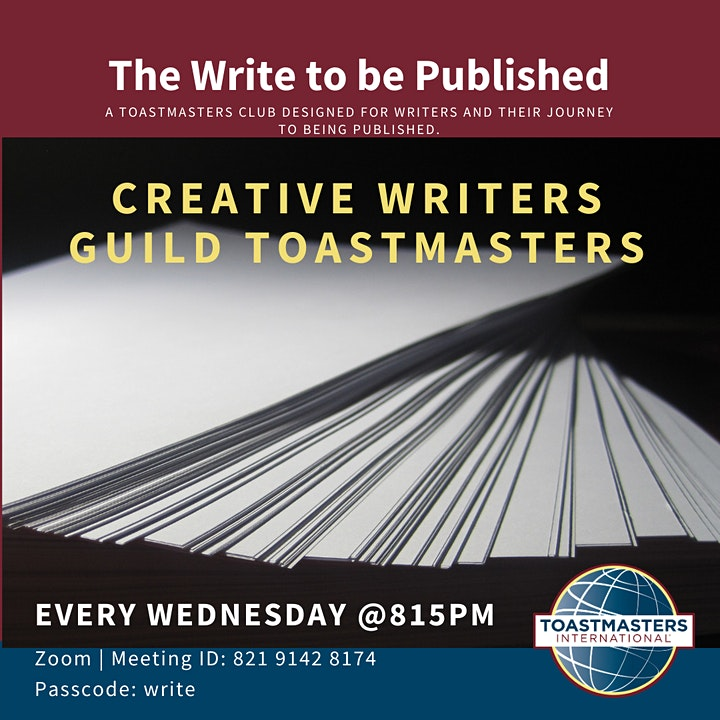 The Creative Writers Guild Toastmasters image