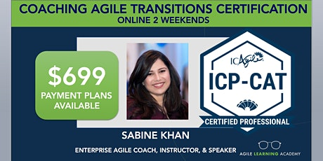 ICAgile Coaching Successful Agile Transitions (ICP-CAT) | Online | MAY 2021 tickets