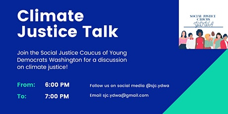 YDWA Social Justice Caucus Earth Day Climate Justice Talk tickets