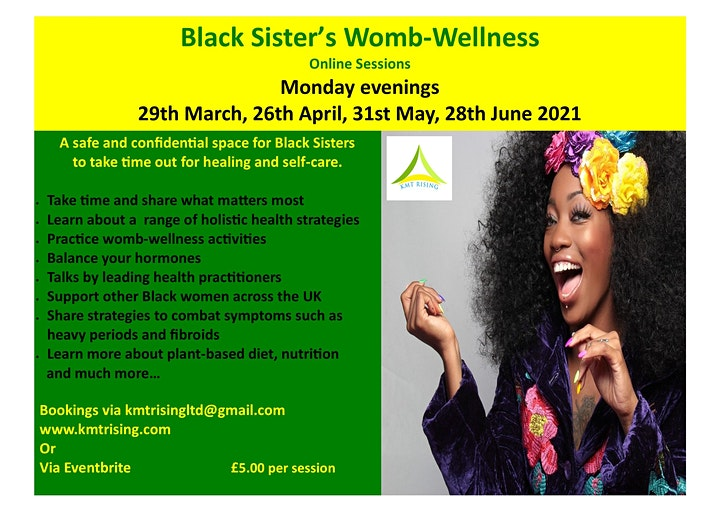 Black Sister's Womb-Wellness Online Sessions image