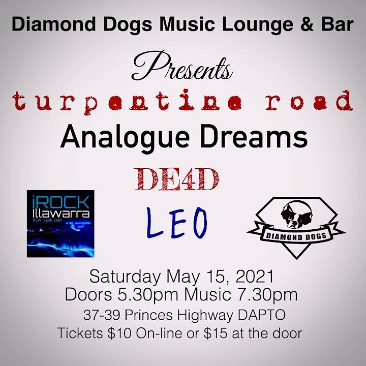 Diamond Dogs & iRock Illawarra Present TURPENTINE ROAD w/ GUESTS image