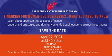 Financing for Women-led Businesses: What you need to know tickets