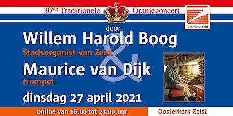 30e trad. Oranjeconcert door stadsorganist W.H. Boog m.m.v. trompettist tickets