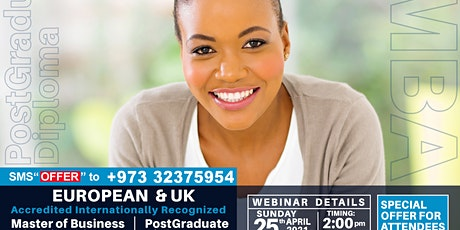 Free MBA Webinar -WES Approved, Internationally Recognized, UK and European biglietti