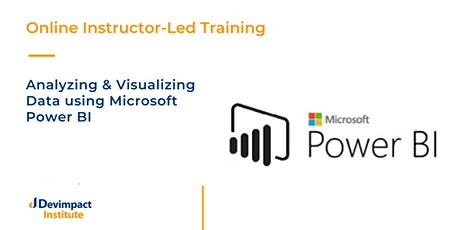 Training on Analyzing and Visualizing Data using Microsoft Power BI tickets
