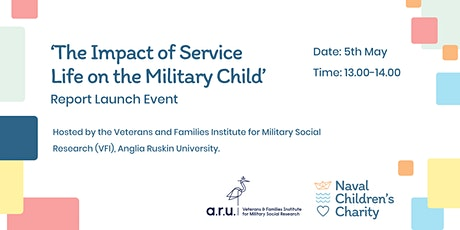 The Impact of Service Life on the Military Child - Research launch tickets