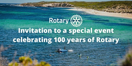 Invitation to a special event celebrating 100 years of Rotary tickets