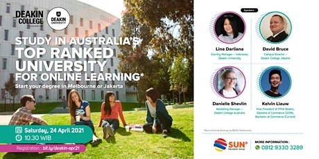 Deakin College Info Session 24 April 2021 tickets