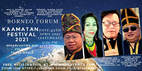 BORNEO FORUM: Kaamatan Festival 2021-Broadcasting our culture to the world tickets