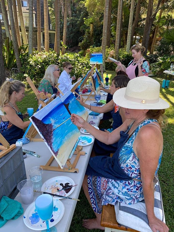 Rose and Renoir   - paint and sip class-Chique Terre image